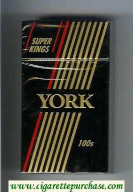 York 100s Super Kings cigarettes hard box