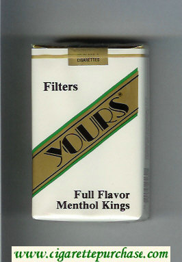 Yours 'R' Full Flavor Menthol cigarettes white and gold soft box