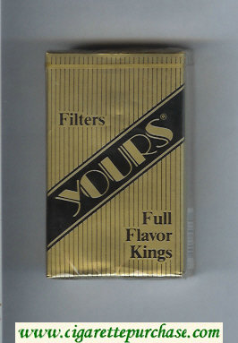 Yours 'R' Full Flavor cigarettes gold and black soft box