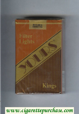 Yours 'R' Lights cigarettes light brown and gold and brown soft box