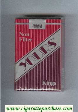 Discount Yours 'R' Non Filter cigarettes red and silver and dark red soft box