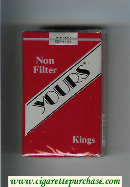 Discount Yours 'R' Non Filter cigarettes red and silver soft box