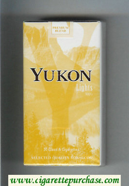 Yukon Lights 100s cigarettes soft box