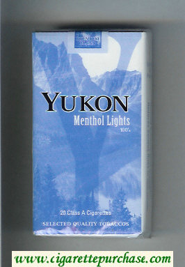 Yukon Menthol Lights 100s cigarettes soft box