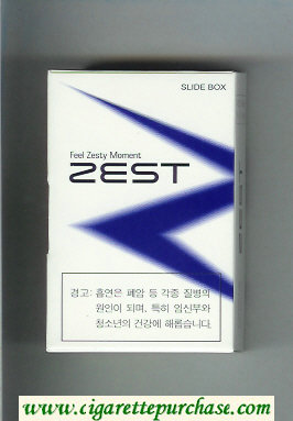 Discount Zest Feel Zesty Moment cigarettes hard box