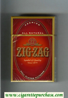 Discount Zig - Zag Premium All Natural Full Flavor Filtered cigarettes hard box