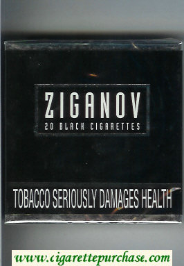 Ziganov cigarettes wide flat hard box