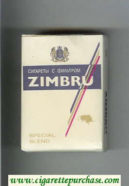 Discount Zimbru Special Blend cigarettes white and blue soft box