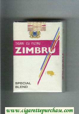 Discount Zimbru Special Blend cigarettes white and red soft box